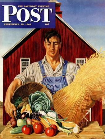 """""""Fall Bounty,"""" Saturday Evening Post Cover, September 25, 1943"""