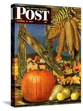 """Fall Harvest,"" Saturday Evening Post Cover, October 27, 1945"