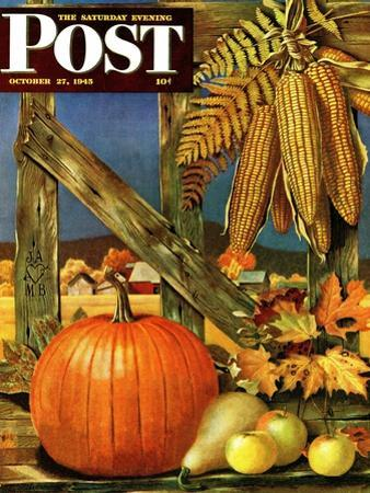 """""""Fall Harvest,"""" Saturday Evening Post Cover, October 27, 1945"""