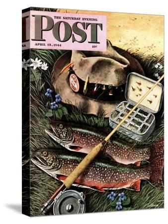 """Fishing Still Life,"" Saturday Evening Post Cover, April 15, 1944"
