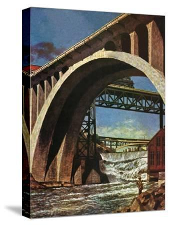 """Fishing Under Bridge,"" June 12, 1948"