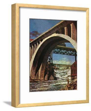 """Fishing Under Bridge,"" June 12, 1948"