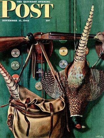 """""""Hunting still life,"""" Saturday Evening Post Cover, November 11, 1944"""