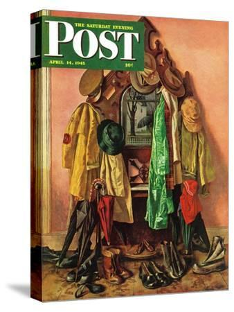 """Loaded Coat Rack,"" Saturday Evening Post Cover, April 14, 1945"