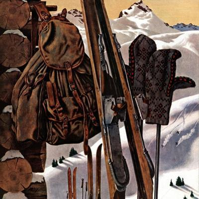 """Ski Equipment Still Life,"" February 3, 1945"