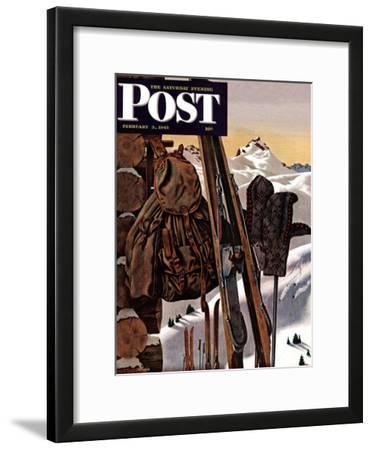 """Ski Equipment Still Life,"" Saturday Evening Post Cover, February 3, 1945"