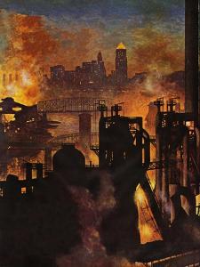 """""""Steel Mills,"""" November 23, 1946 by John Atherton"""