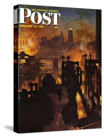 """Steel Mills,"" Saturday Evening Post Cover, November 23, 1946"