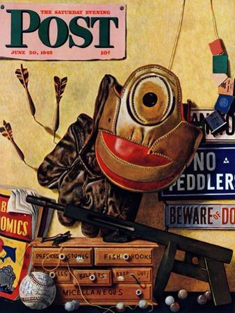 """Still Life of Boys Toys,"" Saturday Evening Post Cover, June 30, 1945"