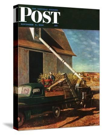 """Storing the Corn,"" Saturday Evening Post Cover, November 6, 1948"