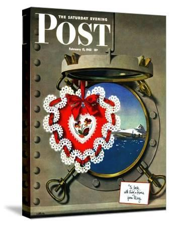 """Valentine's Day at Sea,"" Saturday Evening Post Cover, February 13, 1943"