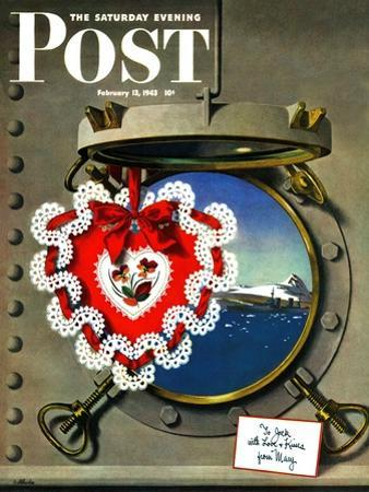 """""""Valentine's Day at Sea,"""" Saturday Evening Post Cover, February 13, 1943"""