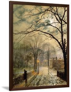 A Moonlit Stroll, Bonchurch, Isle of Wight, 1878 by John Atkinson Grimshaw