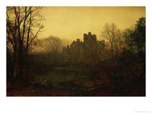 An October Afterglow by John Atkinson Grimshaw