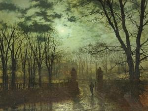 At the Park Gate by John Atkinson Grimshaw