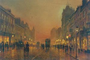 Briggate, Leeds, 1891 by John Atkinson Grimshaw
