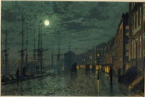 City Docks by Moonlight by John Atkinson Grimshaw