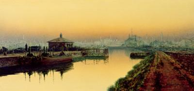 Knostrop Cut, Leeds, Sunday Night, 1893