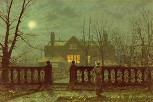 Lady in a Garden by Moonlight, 1892 by John Atkinson Grimshaw