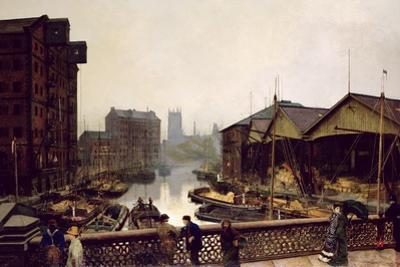Leeds Bridge, 1880 by John Atkinson Grimshaw