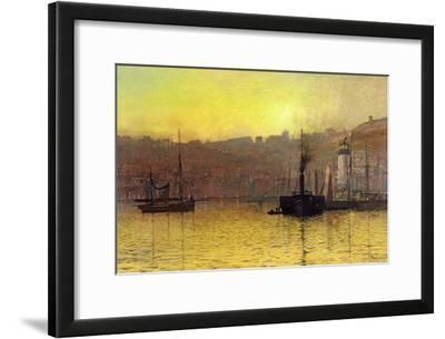 Nightfall in Scarborough Harbour, 1884