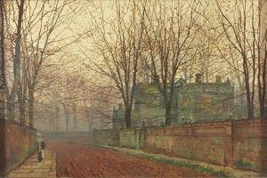 November Morning, Knostrop Hall, Leeds by John Atkinson Grimshaw