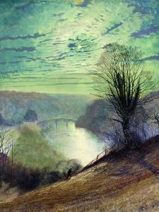 On the Tees, Near Barnard Castle, C.1868 by John Atkinson Grimshaw