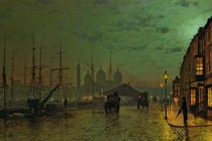 Prince's Dock, Hull, 1882 by John Atkinson Grimshaw