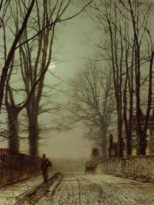 Putney Park Lane by John Atkinson Grimshaw