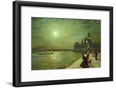 Reflections on the Thames, Westminster, 1880