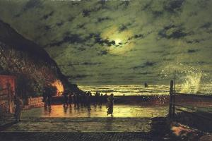 The Harbour Flare, 1879 by John Atkinson Grimshaw