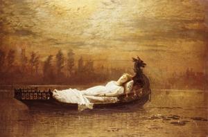 The Lady of Shalott by John Atkinson Grimshaw