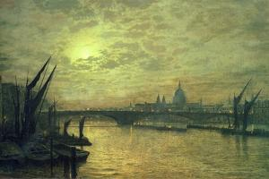 The Thames by Moonlight with Southwark Bridge, 1884 by John Atkinson Grimshaw