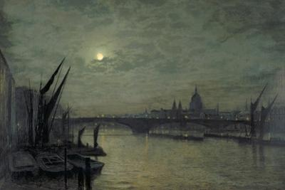 The Thames by Moonlight with Southwark Bridge, 1884