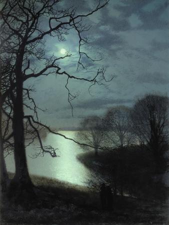 Watching a Moonlit Lake