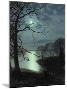 Watching a Moonlit Lake by John Atkinson Grimshaw