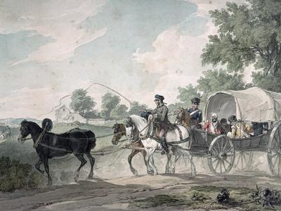 Belgian Wagon Conveying Wounded from the Field After the Battle of Waterloo, 1815