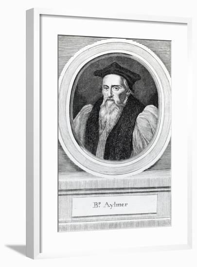 John Aylmer, Lord Bishop of London (1521-94)--Framed Giclee Print