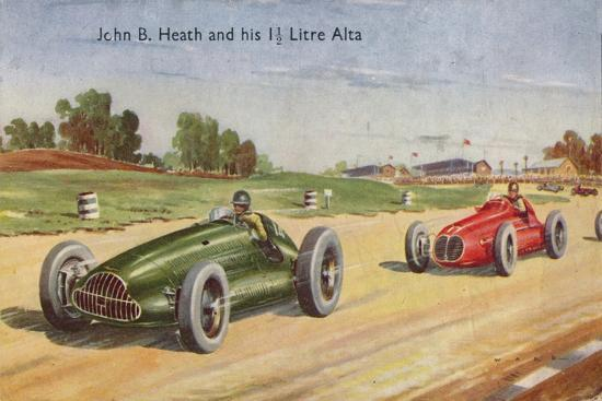 'John B. Heath and his 1 1/2 Litre Alta', c1953-Unknown-Giclee Print