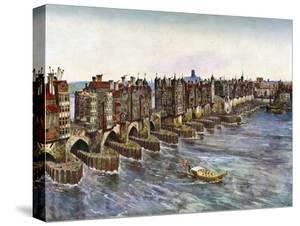 Old London Bridge, About 1630, (C1900-192) by John B Thorpe