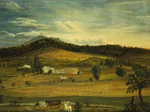 An American Farm, American School (19th Century) by John Bachman