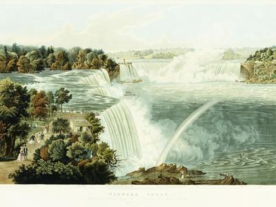 Niagara Falls. Painted from the Chinese Pagoda, Point View Gardensr, 1845