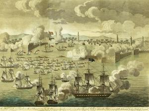 The Attack Made on Tripoli on the 3rd of August 1804, by the Commodore Edward Preble, 1805 by John Bachman