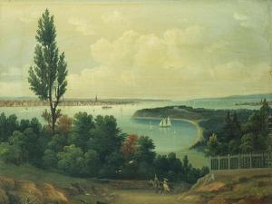 View of New York from New Jersey by John Bachman