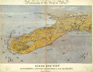Florida and Part of Georgia and Alabama, c.1861 by John Bachmann
