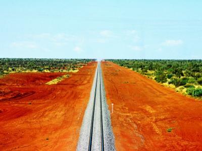 Alice Springs to Darwin Railway Line by John Banagan