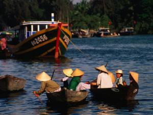 Boat Traffic in Hoi An, Hoi An, Quang Nam, Vietnam by John Banagan