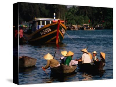 Boat Traffic in Hoi An, Hoi An, Quang Nam, Vietnam