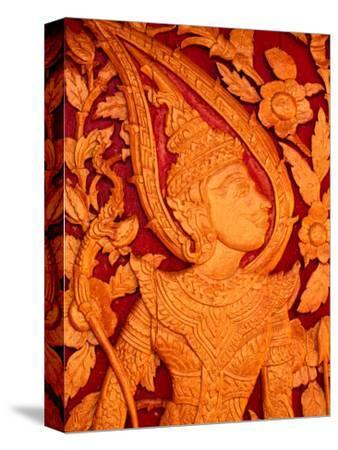 Carved Wooden Temple Doors at Pha That Luang, Vientiane, Vientiane Prefecture, Laos
