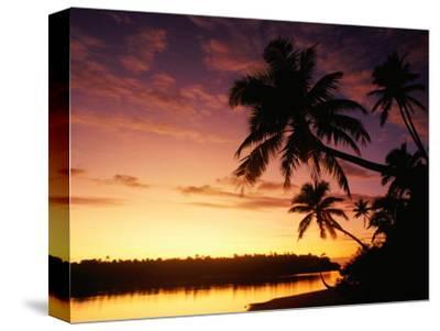 Coconut Palms Over Aitutaki Lagoon, Aitutaki, Southern Group, Cook Islands